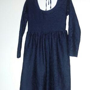 Exhilaration Navy Lace Dress